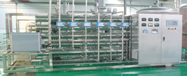 Purified water system of hot water disinfection