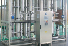 Multi effect distilled water machine
